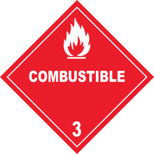 Combustible Warning Sign, Plac...