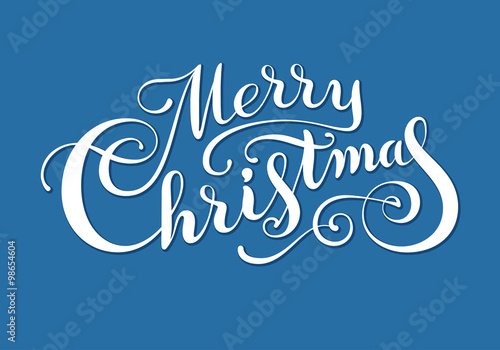 Photo Merry Christmas text