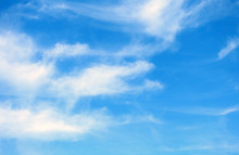 Blue Sky With Few Clouds