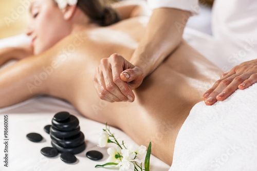 Fotografie, Obraz  Woman enjoying massage.