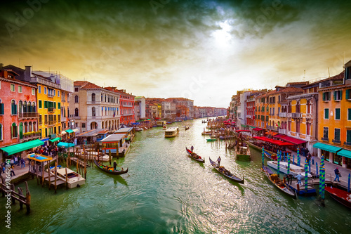 Foto  Grand Canal, Venice, Italy.