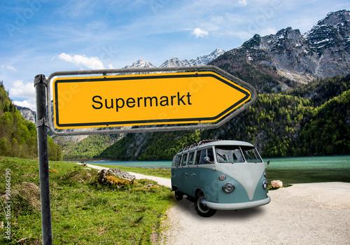 Strassenschild 45 - Supermarkt
