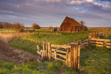 Old Barn On The Island Of Texel, The Netherlands