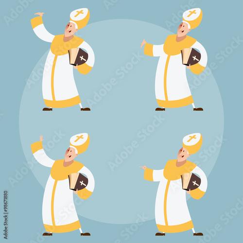 Set of Catolic Popes Fototapeta