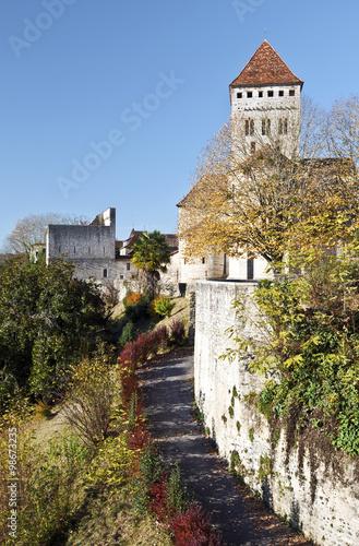 Cuadros en Lienzo Medieval church Saint-Andre in Sauveterre-de-Bearn village