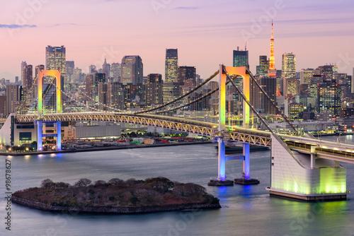 Poster Tokyo Tokyo Bay Skyline