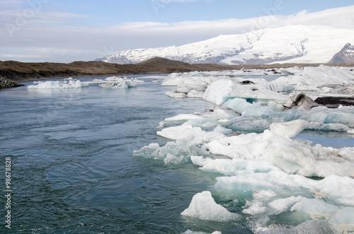Foto op Aluminium Arctica Island-Südküste Gletscherlagune Jökulsarlon