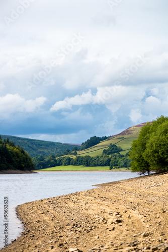 Fotografie, Obraz  Picturesque View on the Hills near Ladybower Reservoir, Peak Dis