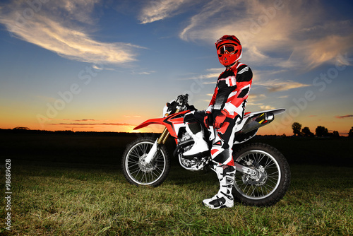 Photo  Motocross rider