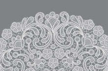 Vector Background With Lace Or...