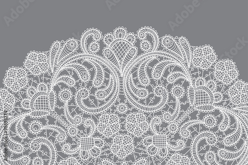 Valokuva  vector background with lace ornament