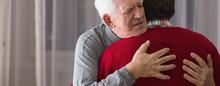 Hugging Helpful Caregiver