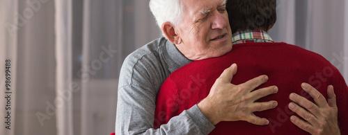 Fotografie, Obraz  Hugging helpful caregiver