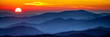 canvas print picture - Smoky mountain sunset