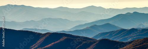 Aluminium Prints Mountains Smoky mountain ridges