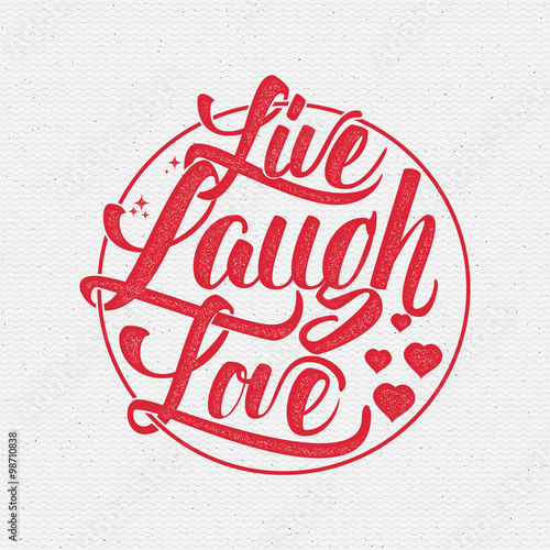 Live laugh love Hand lettering quote Wallpaper Mural