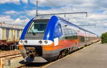 Regional Express Train At La Rochelle Station - France