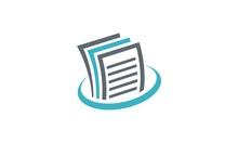 Paper Data Business Finance Logo