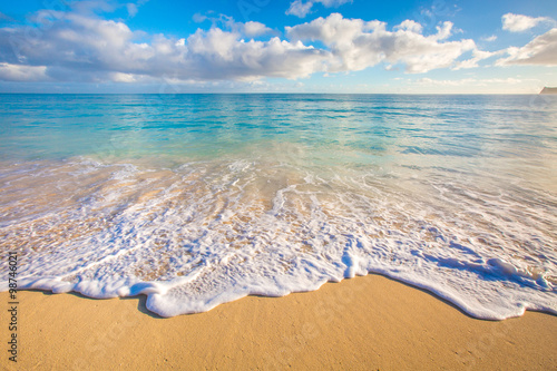 Canvas Prints Sea sunset Hawaii Beaches