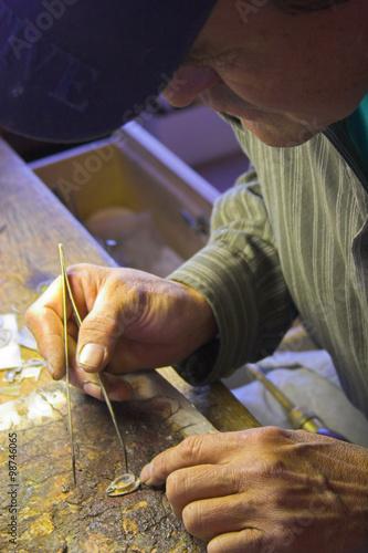 fototapeta na szkło Indian jeweler