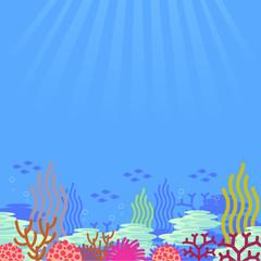 Fototapeta na wymiar cartoon undersea, vector