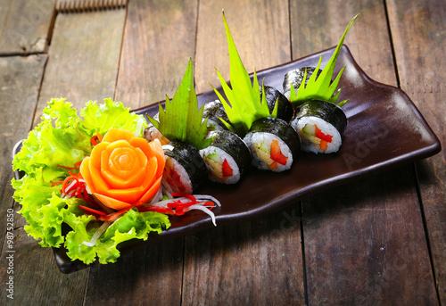 Set of sushi rolls Wallpaper Mural