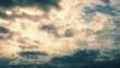 Dramatic Golden Cloudscape Timelapse
