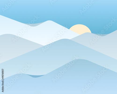 Foto op Aluminium Purper Vector background with snow