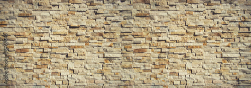 Foto op Canvas Baksteen muur Nature stone wall background and texture