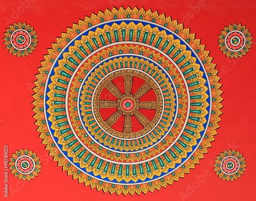 Staande foto Lama dharmachakra-phat that luang