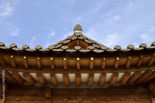 Photo  Seoul, Korean traditional architecture, sky, asian roof