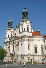 PRAGUE, CZECH REPUBLIC - APRIL 19, 2010: The Church Of St. Nicholas In Prague, Czech Republic