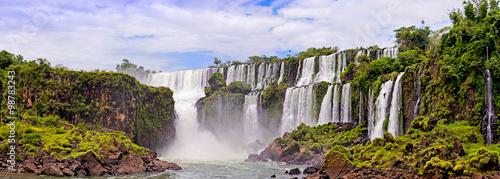 Küchenrückwand aus Glas mit Foto Wasserfalle Waterfalls on Iguasu