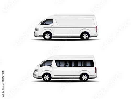 Fotografie, Obraz  Passenger and commercial minibus