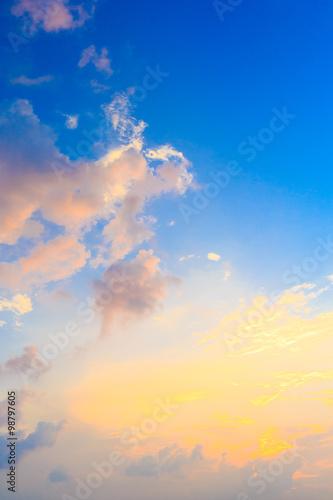 sunset sky #98797605