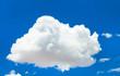 Leinwandbild Motiv White cloud in the blue sky
