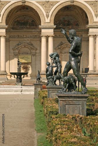 PRAGUE, CZECH REPUBLIC - APRIL 16, 2010: Statues in Wallenstein Garden in Prague Poster