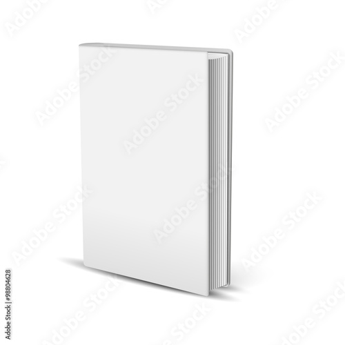 Fotografija  The white realistic book isolated on the white background
