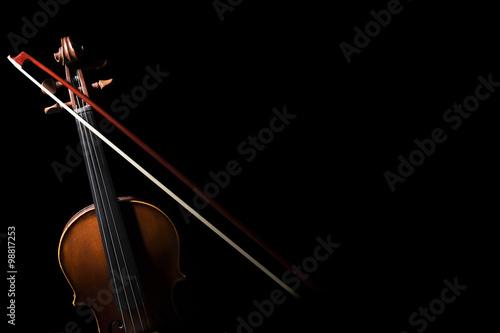 Papiers peints Musique Old ,retro violin on the black background.