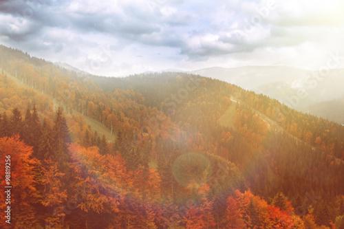 Foto op Canvas Bergen Mountains in the Autumn