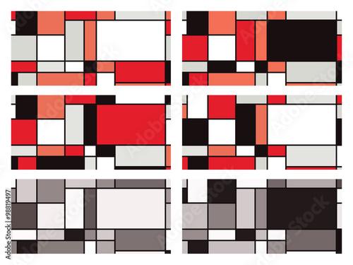 Photo  Mondrian style vector illustration