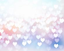 Valentine Soft Color Background Illustration.
