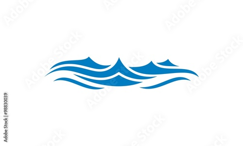 wave water ocean vector logo Tablou Canvas