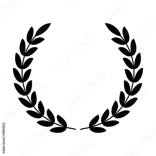 Laurel Wreath Symbol Of Victory And Power Flat Icon For Apps And