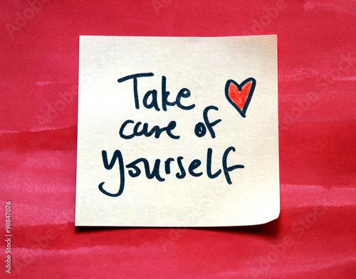 Fotografía  take care of yourself