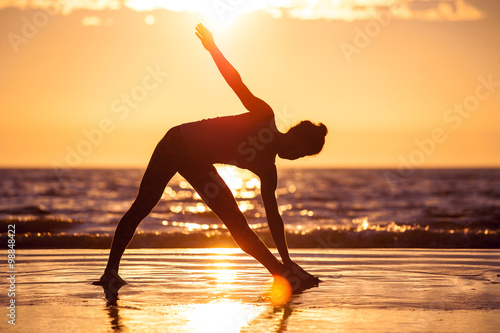 Stampe  woman practicing yoga