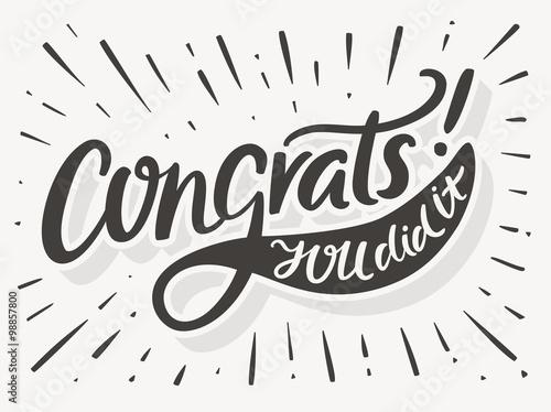 Fotografía  Congrats. You Did It. Congratulations card.