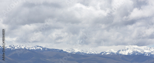 Photo  Snow covered mountain peak in the Cordillera Blanca, Peru