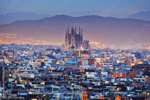Canvas Print Barcelona in Spain