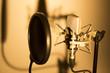 Leinwandbild Motiv Audio recording vocal studio voice microphone